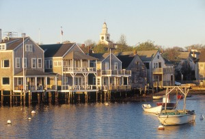 nantucket harbour on stilts